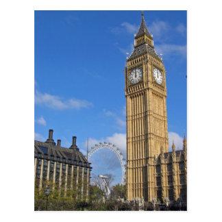 Big Ben e o cartão do olho de Londres