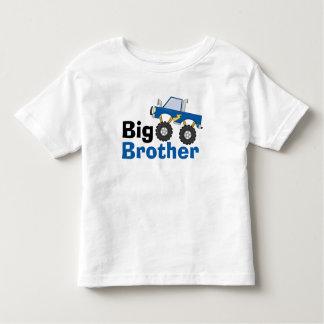 Big brother azul do monster truck camiseta infantil