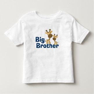 Big brother bonito do girafa camiseta infantil