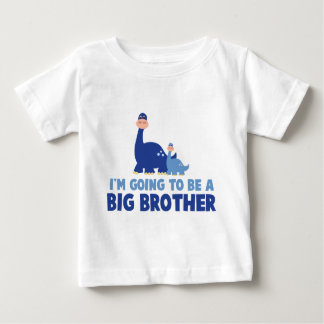 big brother do dinossauro a ser azul NOVO Camiseta Para Bebê