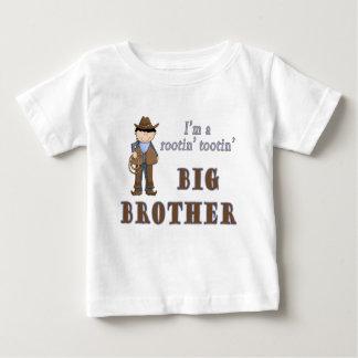 big brother do tootin do rootin do vaqueiro camiseta para bebê