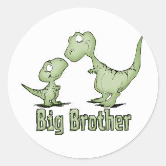 Big brother dos dinossauros adesivos em formato redondos