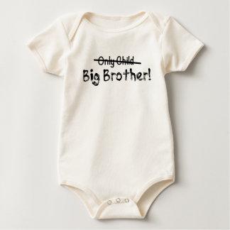 Big brother (filho único cruzado para fora) bonito body para bebê