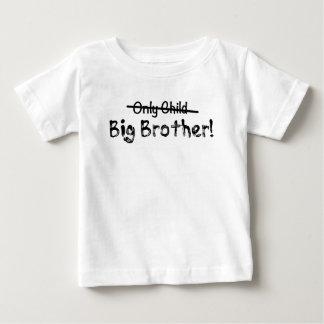 Big brother (filho único cruzado para fora) bonito camiseta para bebê