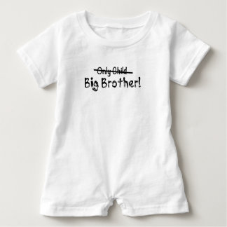 Big brother (filho único cruzado para fora) bonito macacão para bebê