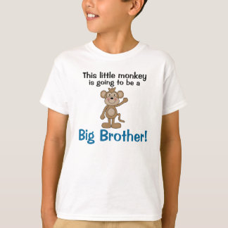 Big brother pequeno do macaco camiseta