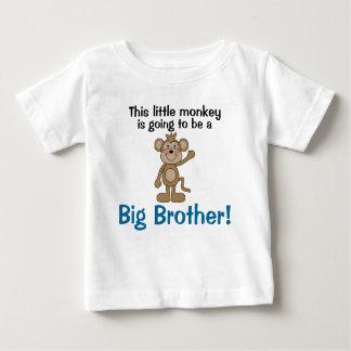 Big brother pequeno do macaco camiseta para bebê