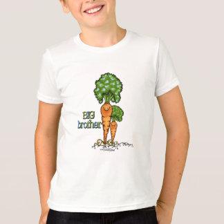 Big brother - vegetariano alaranjado da cenoura camiseta