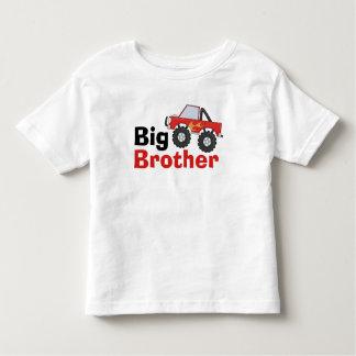 Big brother vermelho do monster truck camiseta infantil