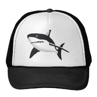 big white shark boné