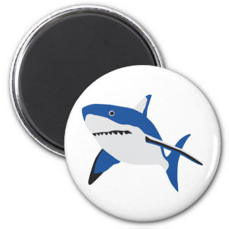 big white shark ímã redondo 5.08cm