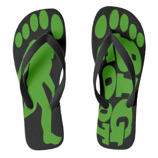 Bigfoot que cruza chinelos de Forest Green