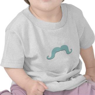 Bigode azul engraçado camisetas