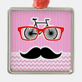 Bigode cor-de-rosa de Chevron; Engraçado Enfeites