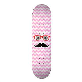 Bigode cor-de-rosa de Chevron; Engraçado Shape De Skate 20cm