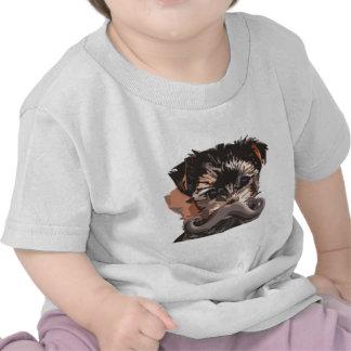 Bigode do filhote de cachorro t-shirt