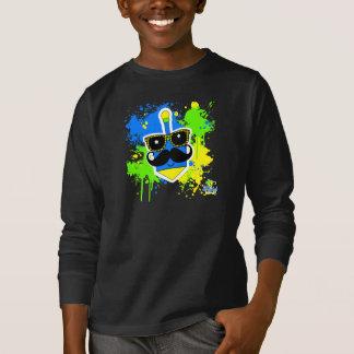 Bigode Dreidel - camisa escura