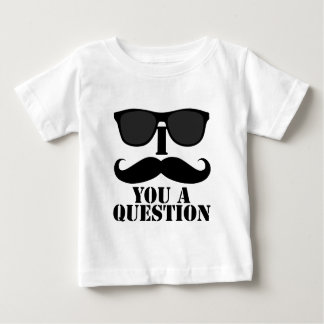 Bigode engraçado de I você óculos de sol de um Camiseta Para Bebê