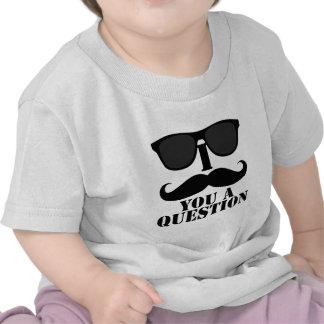 Bigode engraçado de I você óculos de sol de um pre T-shirt