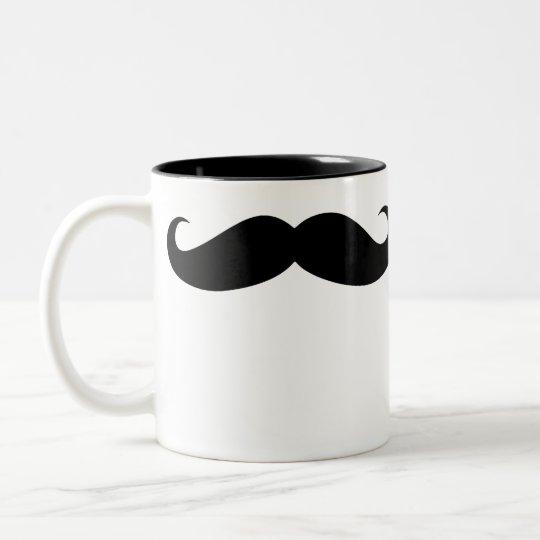 Bigode engraçado do disfarce da caneca de café do