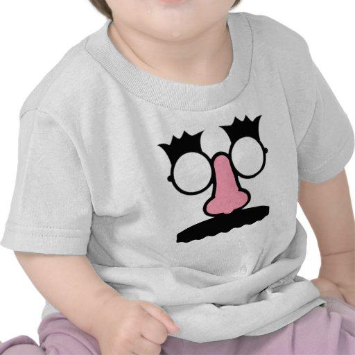 Bigode engraçado do nariz dos vidros de Groucho da Camiseta