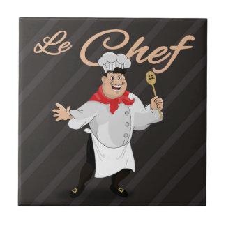 Bigode francês da arte do cozinheiro da cozinha azulejo quadrado pequeno