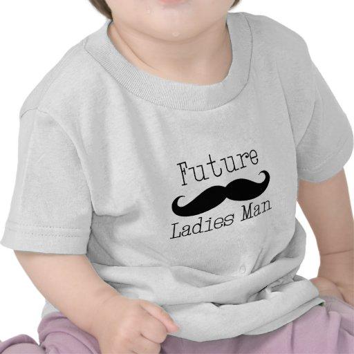 Bigode futuro do homem das senhoras camisetas