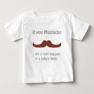 Bigode lunático para bebés t-shirt