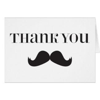 Bigode - obrigado de Stache você cartões de nota