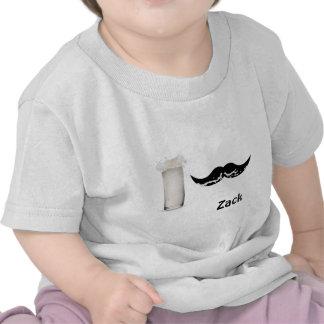 Bigode personalizado do leite tshirts