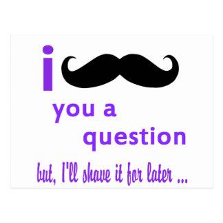 Bigode você um modelo de Qpc da pergunta Cartão Postal