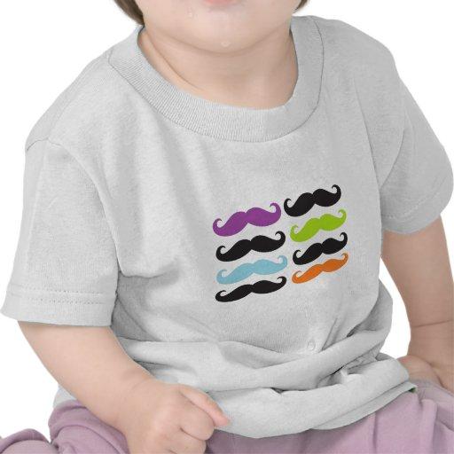 Bigodes brilhantes camiseta