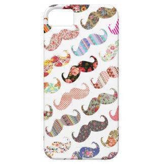 Bigodes coloridos femininos engraçados dos padrões capa para iPhone 5
