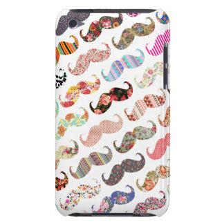 Bigodes coloridos femininos engraçados dos padrões capa para iPod touch
