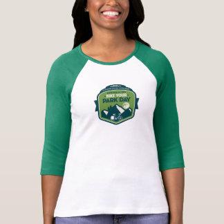 Bike sua camisa do basebol do dia do parque