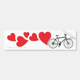 Biking da montanha do amor adesivos