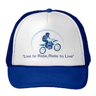 Biking do vetor do motociclista da sujeira bone