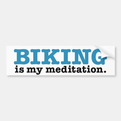 Biking é meditação (a rota azul) adesivos