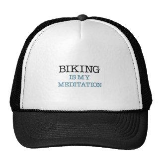 Biking é minha meditação boné
