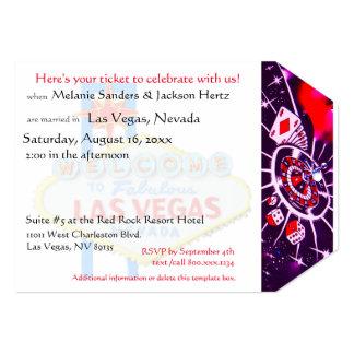 Bilhete da festa de aniversário de Las Vegas Convite 12.7 X 17.78cm