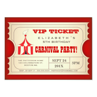 Bilhete da festa de aniversário do carnaval do convites personalizado