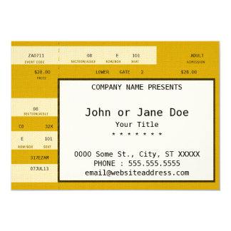 bilhete do concerto do ouro convite 12.7 x 17.78cm