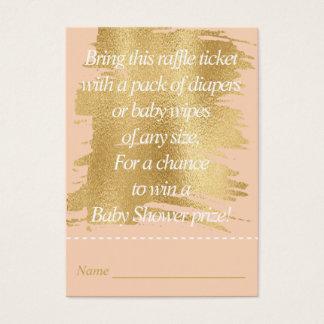 Bilhete do Raffle do chá de fraldas/rosa Cartão De Visitas