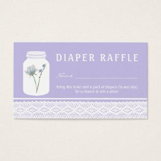 Bilhete do Raffle do frasco de pedreiro da flor Cartão De Visitas