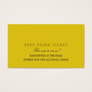 Bilhete livre da bebida do design simples cartão de visitas