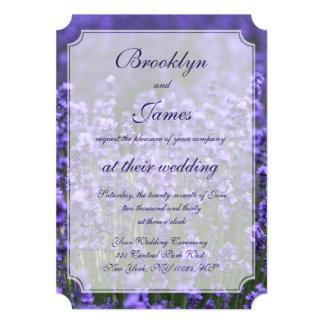 Bilhete personalizado dos convites do casamento da convite 12.7 x 17.78cm