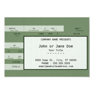 bilhete verde do concerto convite 8.89 x 12.7cm