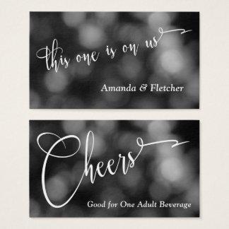 Bilhetes claros pretos & brancos da bebida da cartão de visitas