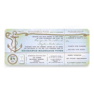 bilhetes do passagem-vintage do embarque do casame