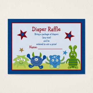 Bilhetes do Raffle da fralda do bebê dos bebês do Cartão De Visitas